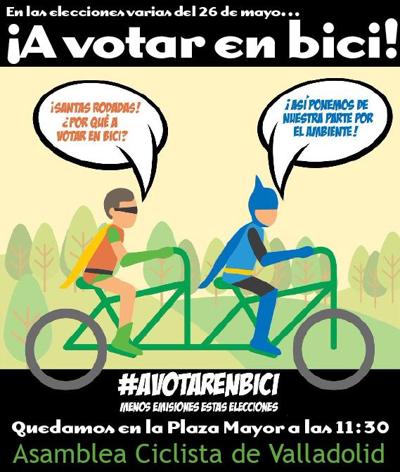 a votar en bici